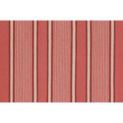 Hand-woven Coral Hokkien Wool Rug (8' x 11')
