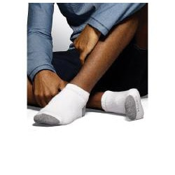Hanes Classics Men's Cushion Low-cut White Socks (Pack of 6) - Thumbnail 2