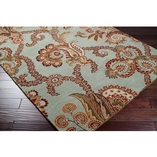 Hand-tufted Seafoam Chevaliers Wool Rug (5' x 8')