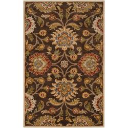 Hand-tufted Chocolate Abomey Wool Rug (10' x 14')