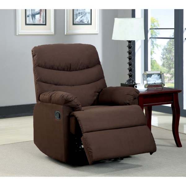 Dalton Dark Brown Microfiber Recliner Chair