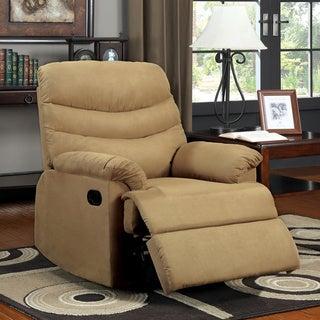Dalton Mocha Brown Microfiber Recliner Chair