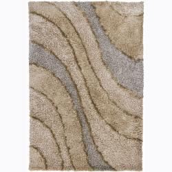 Artist's Loom Hand-woven Shag Rug - 5' x 7'6 - Thumbnail 0