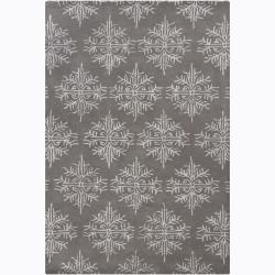 Artist's Loom Hand-tufted Transitional Floral Wool Rug (5'x7'6) - Thumbnail 0