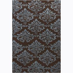 Artist's Loom Hand-tufted Transitional Floral Rug (5' x 7'6) - 5' x 7'6 - Thumbnail 0