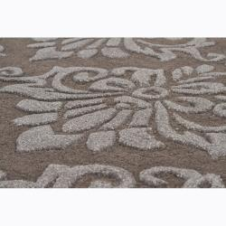 Artist's Loom Hand-tufted Transitional Floral Rug (7'9 x 10'6) - Thumbnail 2