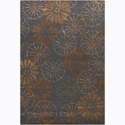 Artist's Loom Hand-tufted Transitional Floral Rug (7'9 x 10'6) - Thumbnail 0