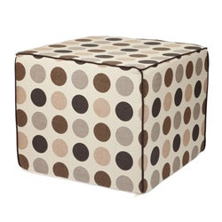 Brooklyn 22-inch Square Beige Outdoor Ottoman made with Sunbrella Fabric - Thumbnail 1