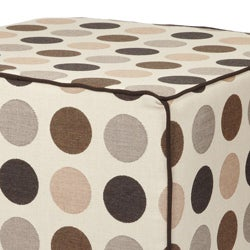Brooklyn 22-inch Square Beige Outdoor Ottoman made with Sunbrella Fabric - Thumbnail 2