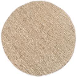 Hand-woven White Thrasher Natural Fiber Jute Rug (8' Round)