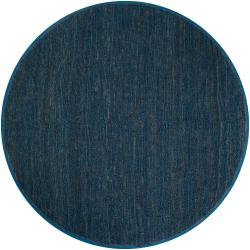 Hand-woven Blue Meadowlark Natural Fiber Jute Rug (8' Round)
