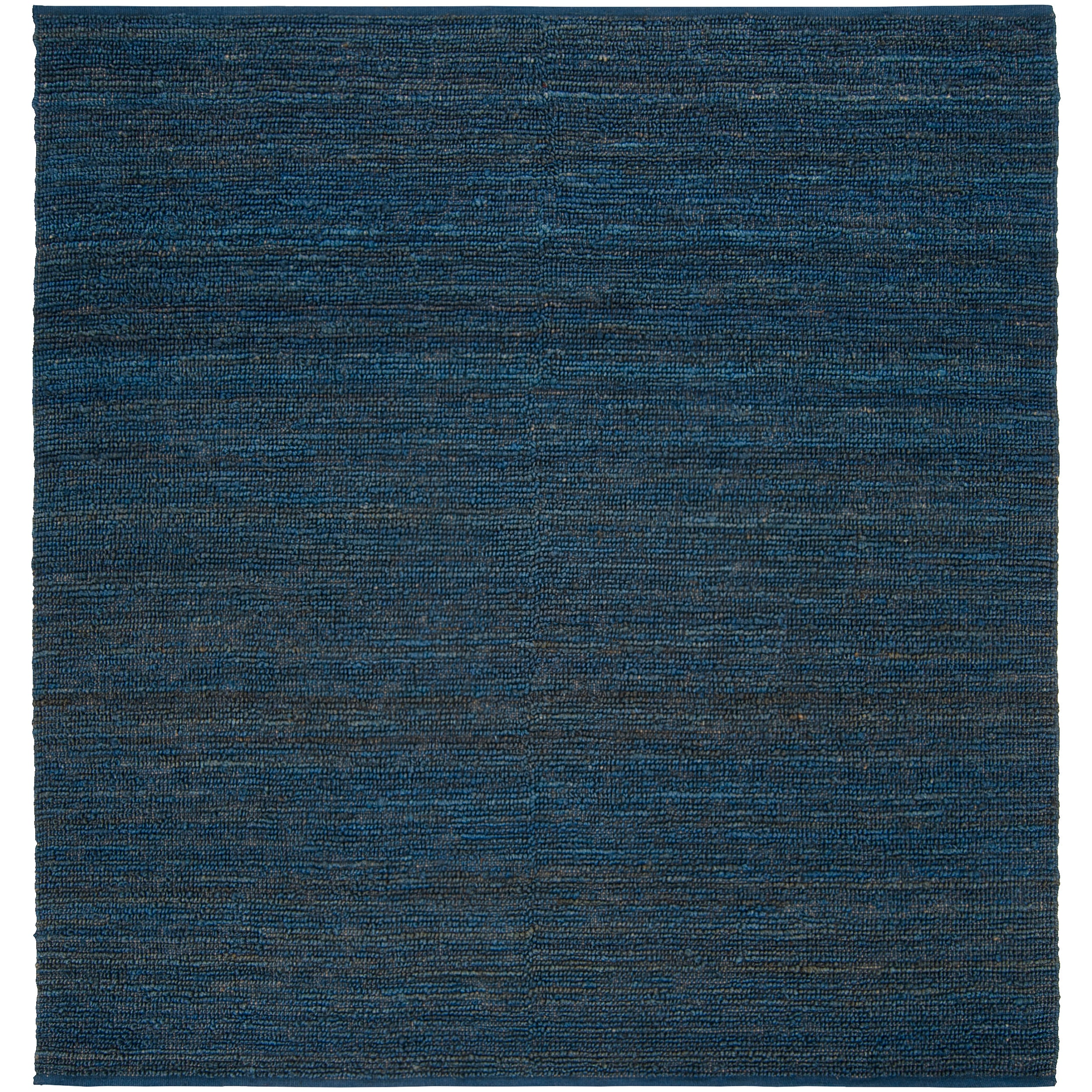 Hand-woven Blue Meadowlark Natural Fiber Jute Rug (8' Square)