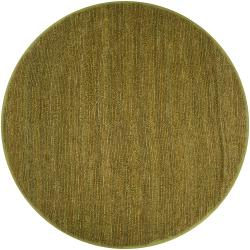 Hand-woven Green Chickadee Natural Fiber Jute Rug (8' Round)