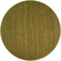Hand-woven Green Chickadee Natural Fiber Jute Area Rug (8' Round)