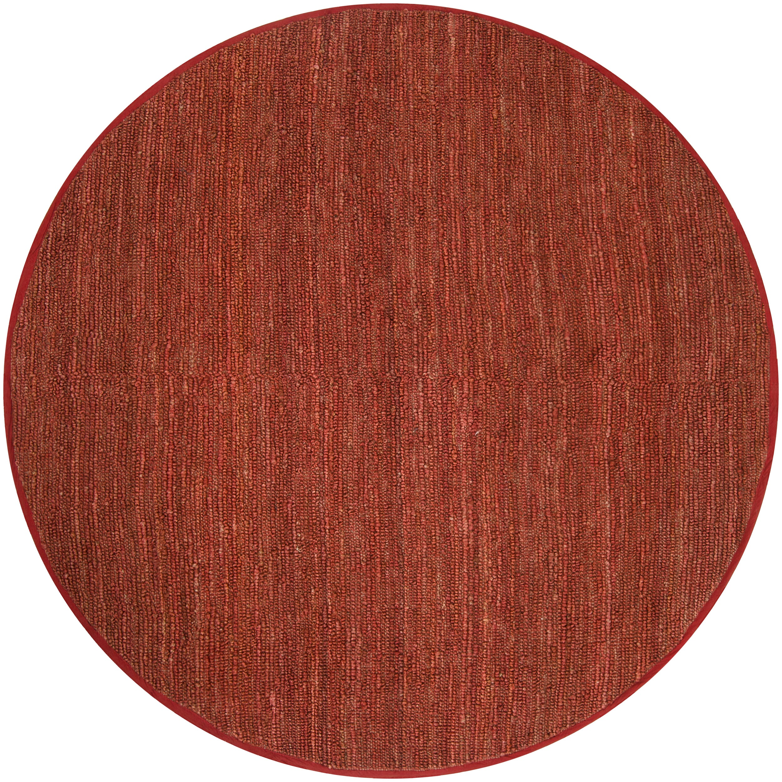 Hand-woven Red Oriole Natural Fiber Jute Rug (8' Round)