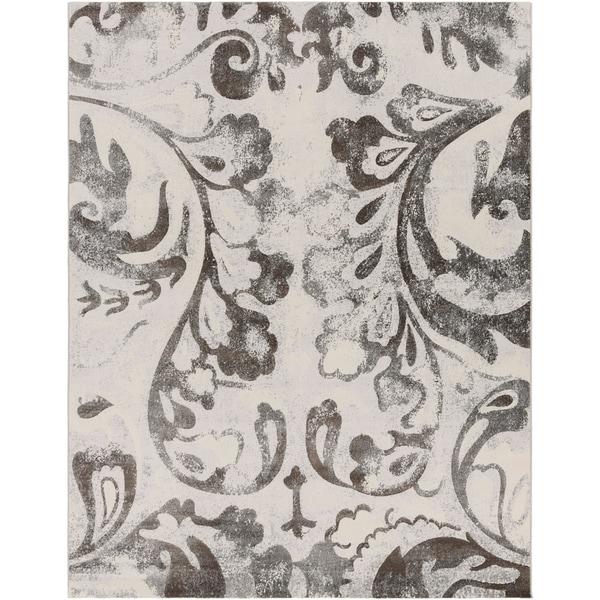 Grey Vintage Rican Abstract Area Rug - 7'10 x 10'
