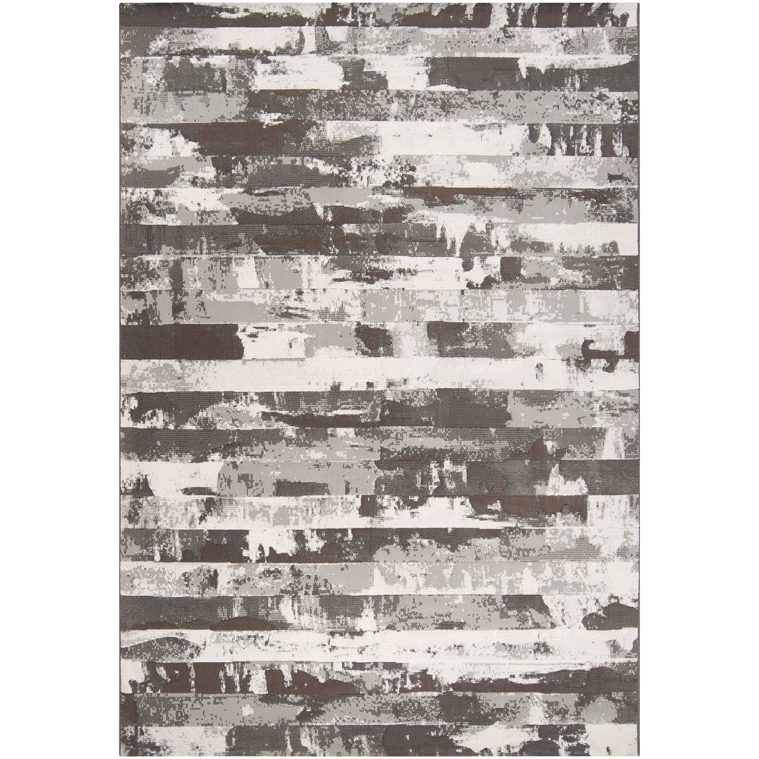Grey Adder Abstract Area Rug - 5'3 x 7'6