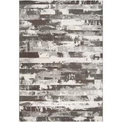 Meticulously Woven Grey Adder Abstract Rug (5'3 x 7'6)