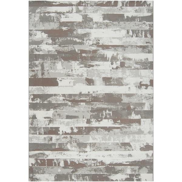 Grey Adder Abstract Area Rug - 5'3 x 7'6