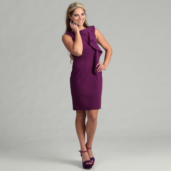 Calvin Klein Women's Mulberry Ruffled Dress FINAL SALE