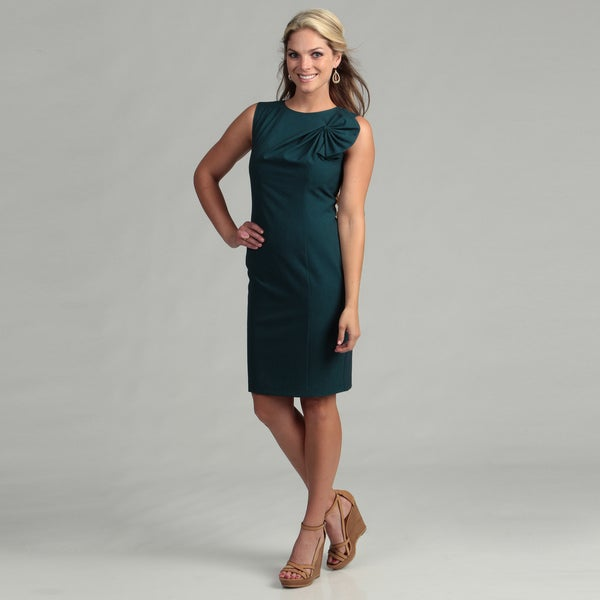 Calvin Klein Women's Lagoon Ruched Bow Dress