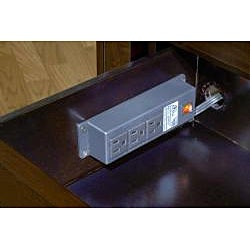 2-drawer Finger Pull Nightstand with Power Strip - Thumbnail 1