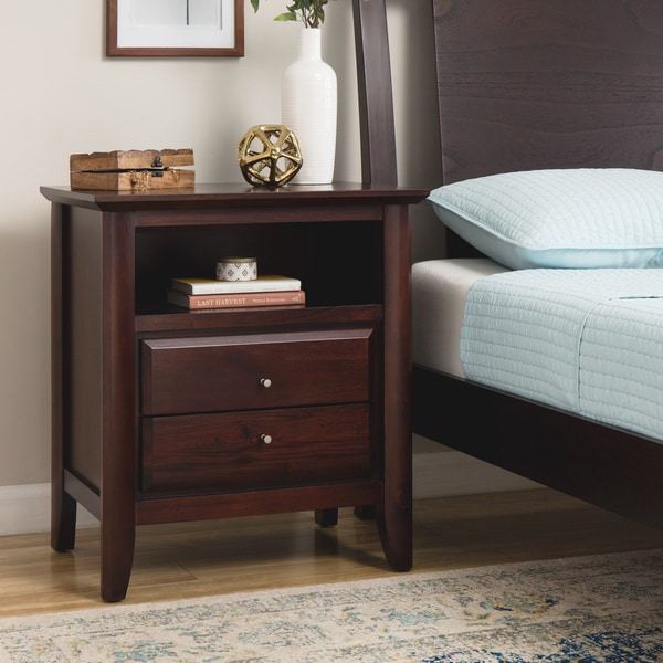 Contemporary Shaker Nightstand With Charging Station