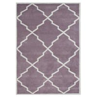 Alliyah Handmade Lilac New Zealand Blend Wool Rug - 8' x 10'
