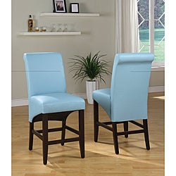 Sleigh Back Blue Counter Stool (Set of 2)
