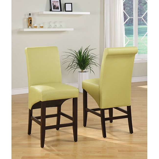 Sleigh Back Green Counter Stool Set Of 2 Free Shipping