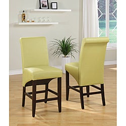 Sleigh Back Green Counter Stool (Set of 2)