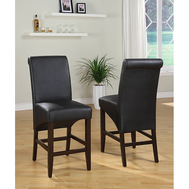 Sleigh Back Black Counter Stool (Set of 2) - Thumbnail 0