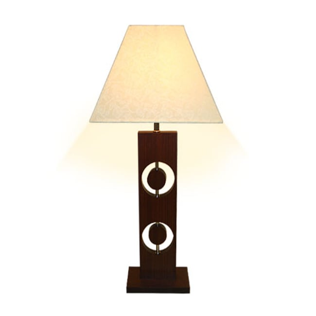 Circuline Wood Table Lamp