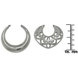 Carolina Glamour Collection Stainless Steel Polished 2-pair Hoop Earring Set