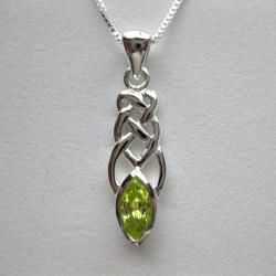 Handmade Sterling Silver Cubic Zirconia Celtic Necklace (Thailand)