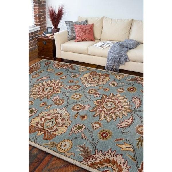Hand-tufted Sky Blue Paz Wool Area Rug (9' x 12')