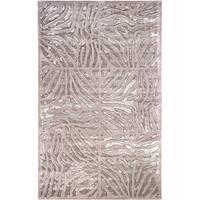 Hand-tufted Grey Zebra Animal Print Lourve Wool Area Rug - 2' x 3'