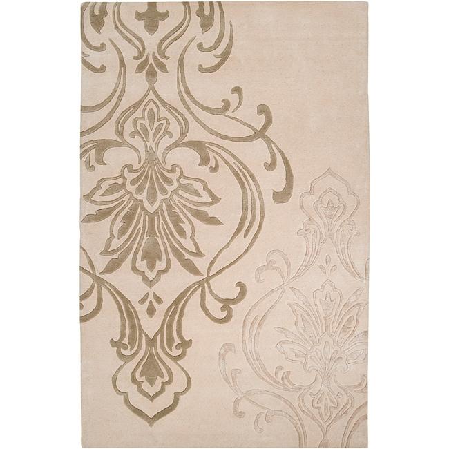 Hand-tufted Beige Sceaux Wool Rug (3'3 x 5'3)