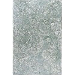 Hand-tufted Silver Sage Manheim Paisley Print Wool Rug (3'3 x 5'3)