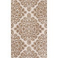 Hand-tufted Cream Coburg Geometric Pattern Wool Area Rug - 2'6 x 8'