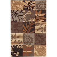 Hand-tufted Brown Mockingbird Area Rug - 2' x 3'