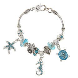 La Preciosa Silvertone Light Blue Crystal Sea Life Design Bead Bracelet|https://ak1.ostkcdn.com/images/products/6506302/La-Preciosa-Silvertone-Light-Blue-Crystal-Sea-Life-Design-Bead-Bracelet-P14094904.jpg?impolicy=medium