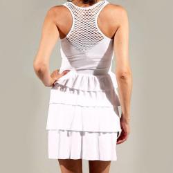 Tabeez Women's Layered Mesh Sleeveless Dress - Thumbnail 1