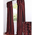 Exclusive Fabrics Ruched Header Syrah Faux Silk Taffeta 108-inch Curtain Panel
