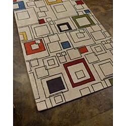 Hand-tufted Wool Rug (3'6 x 5'6) - Thumbnail 1