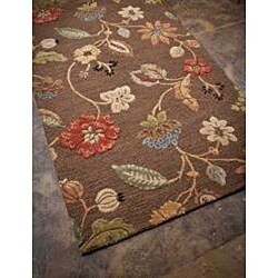 Hand-Tufted Wool & Art Silk Area Rug (8' x 11') - Thumbnail 1