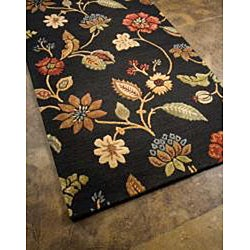 Hand-Tufted Wool & Art Silk Accent Rug (2' x 3') - Thumbnail 1