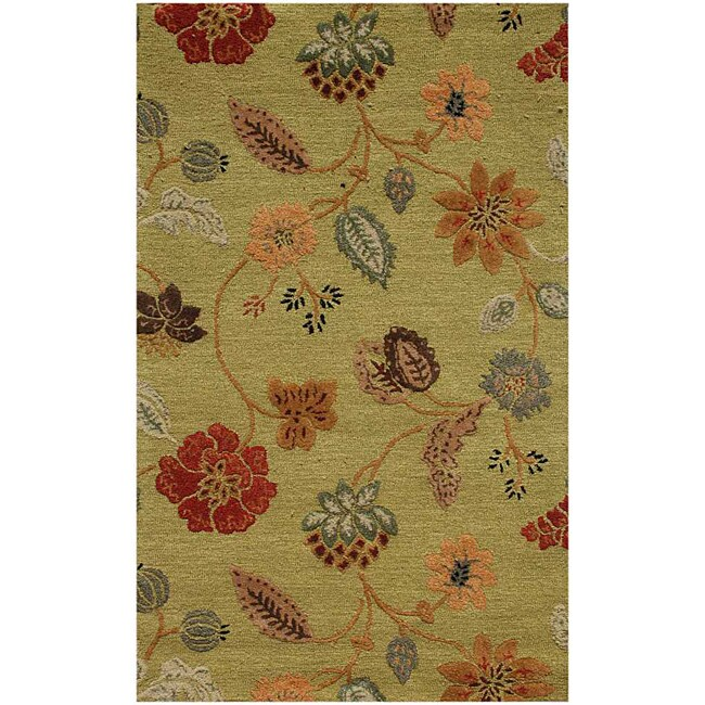 Hand Tufted Wool & Art Silk Rug (9'6 x13'6)