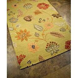 Hand Tufted Wool & Art Silk Rug (9'6 x13'6) - Thumbnail 1