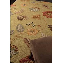 Hand Tufted Wool & Art Silk Rug (9'6 x13'6) - Thumbnail 2
